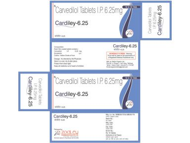 Cardiley 6.25 - Zodley Pharmaceuticals Pvt. Ltd.