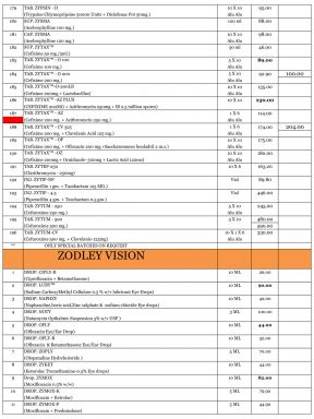 Price List - 8 - Zodley Pharmaceuticals Private Limited