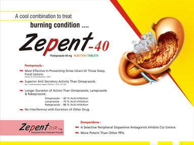 Zepent - 40 - (Zodley Pharmaceuticals Pvt. Ltd.)