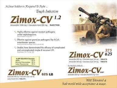 ZIMOX CV 1000 - (Zodley Pharmaceuticals Pvt. Ltd.)
