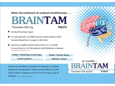 Braintam-800 - (Zodley Pharmaceuticals Pvt. Ltd.)